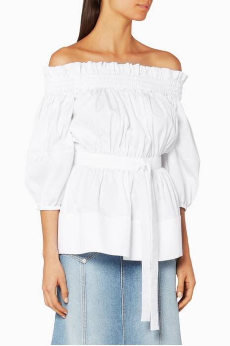 White Off-The-Shoulder Top