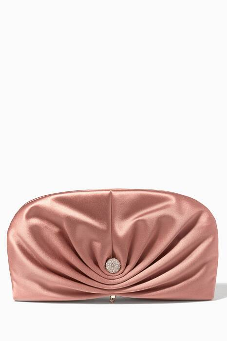 Vintage Rose Vivien Satin Clutch
