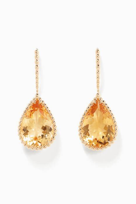Yellow-Gold Serpent Bohème Sleeper Citrine Earrings