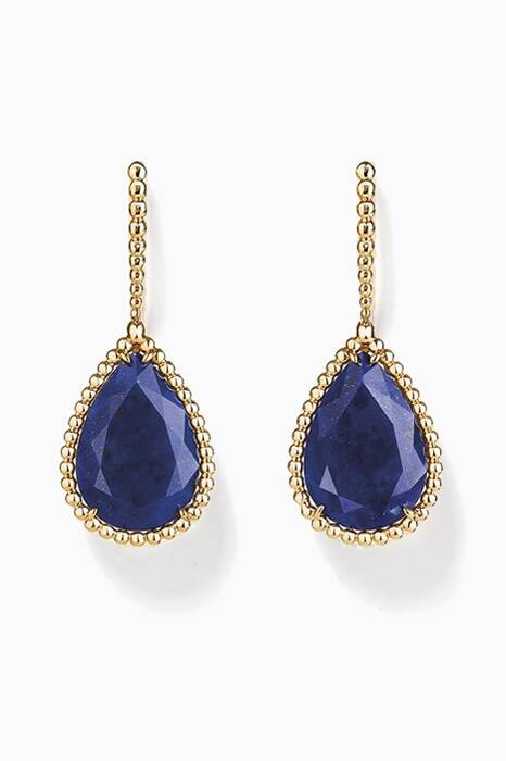 Yellow-Gold Serpent Bohème Sleeper Lapis Lazuli Earrings