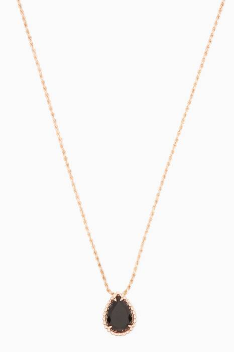 Rose-Gold & Oynx Serpent Bohème Necklace