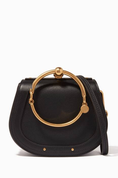 Black Small Nile Leather Bracelet Bag