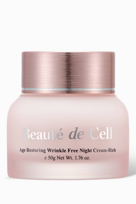 Beauté De Cell Rich Age-Restoring Wrinkle-Free Night Cream, 50g