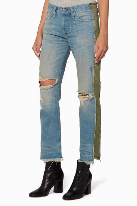 Blue Maggie Straight Jeans