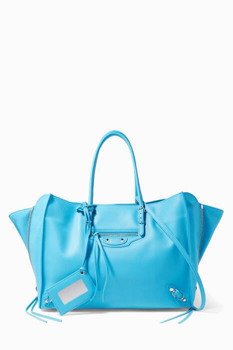 Blue Papier B4 Side-Zip Tote Bag