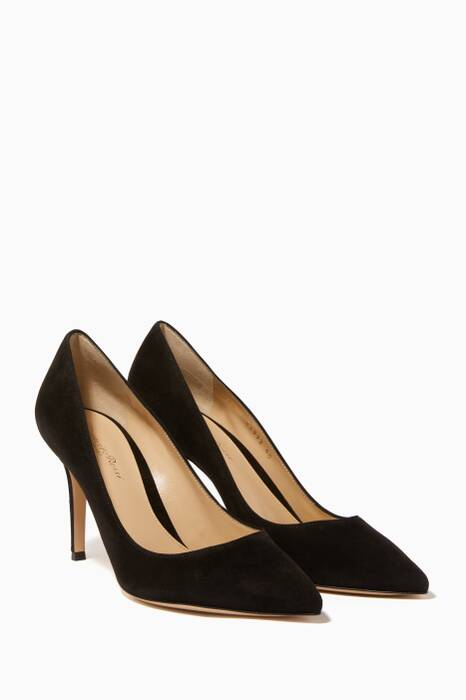 Black Suede Pumps