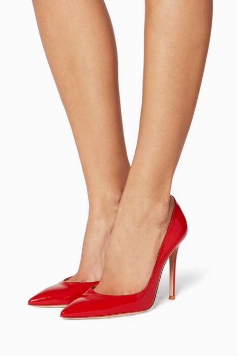 Red Patent Pumps