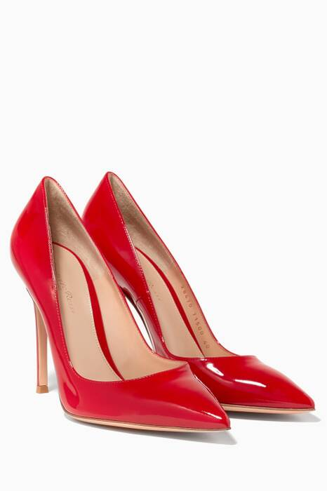 Red Gianvito Patent Pumps