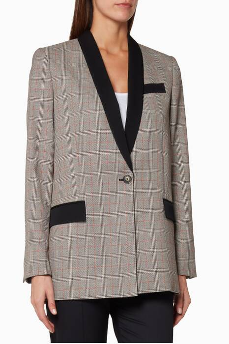 Grey Checked Vicky Jacket