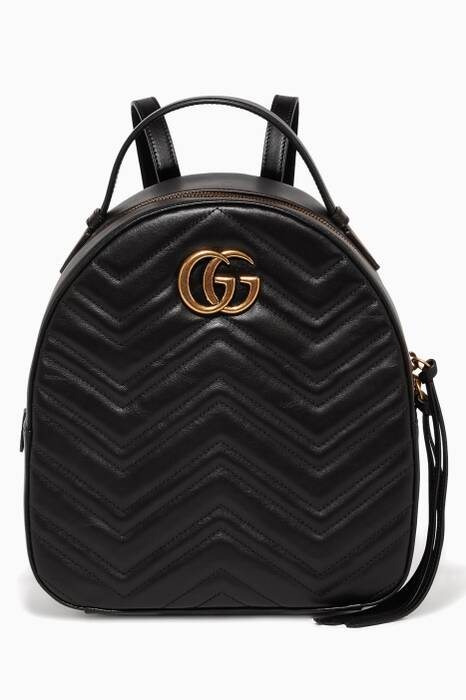 Black GG Marmont Quilted Leather Backpack