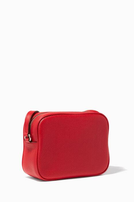 Red Soho Leather Disco Bag