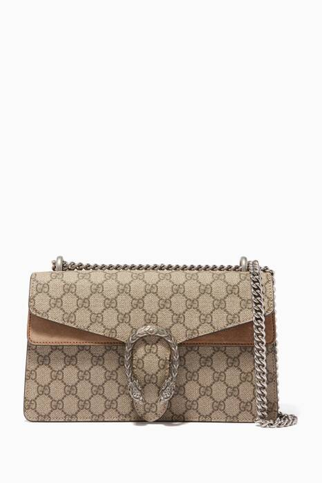 Beige Small Dionysus GG Shoulder Bag