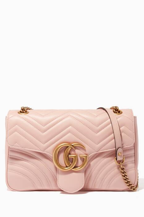 Light-Pink Medium GG Marmont 2.0 Quilted Shoulder Bag