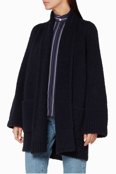 Navy Oversized Cardigan