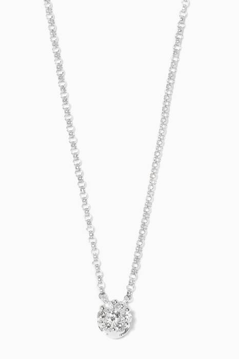 White-Gold & Diamonds Flower Necklace