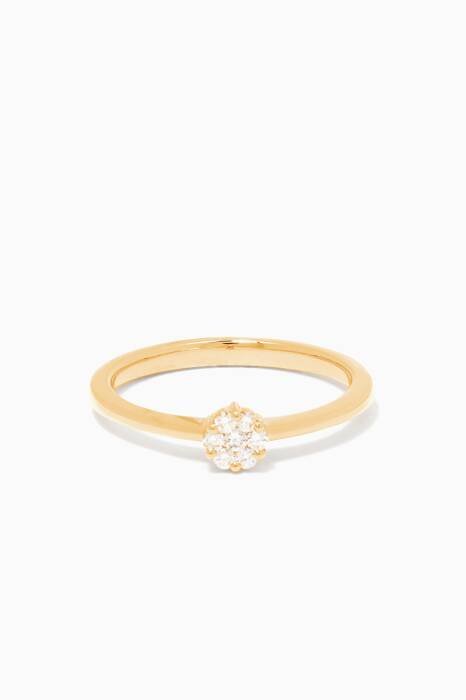 Yellow-Gold & Diamond Flower Ring