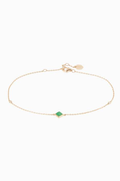 Yellow-Gold Jade Anklet