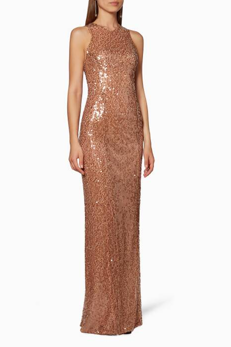 Copper Sequin Dress