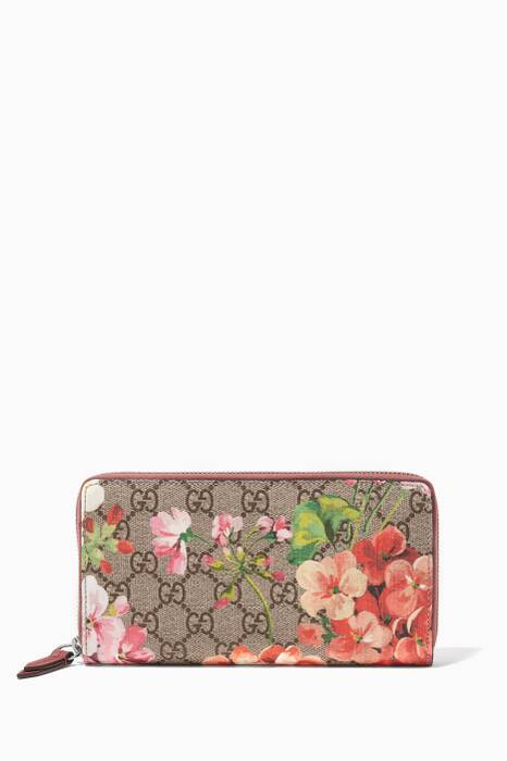 Pink Blooms Zip Around Wallet