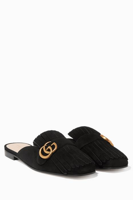 Black Marmont Fringed Suede Loafers