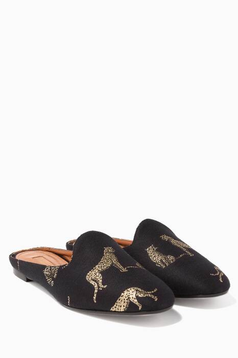 Black Panther Jacquard Brando Slippers