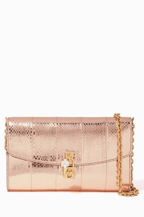 Metallic Ayers Small Pochette Shoulder Bag
