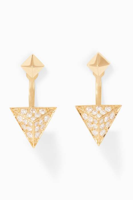 Yellow-Gold & Diamond Astrid Earrings