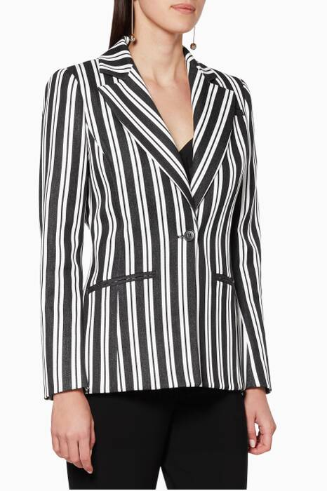 Black & White Striped Acacia Jacket