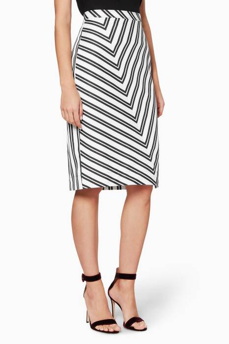 Black & White Striped Celandrine Skirt