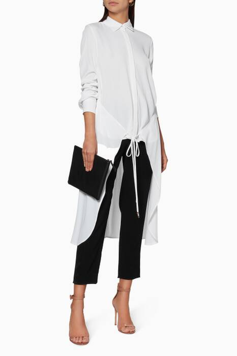 White Apron Wrap Shirt