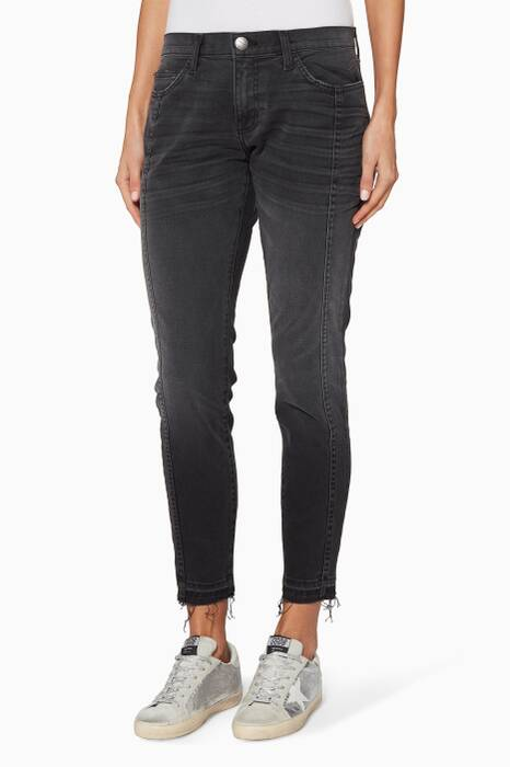Black The Seamed Easy Stiletto Jeans