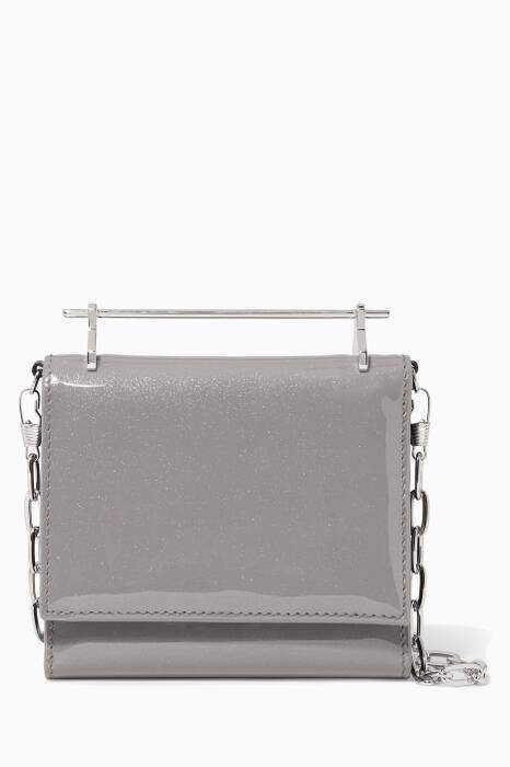 Grey Patent Cambiria Wallet On Chain