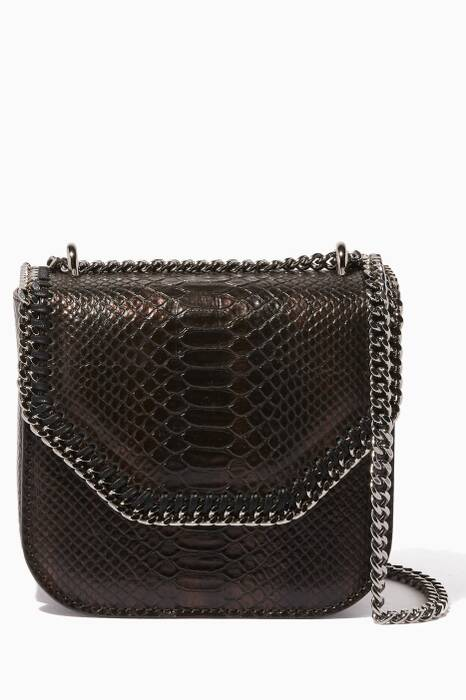 Gold Tiny Python Falabella Box Shoulder Bag