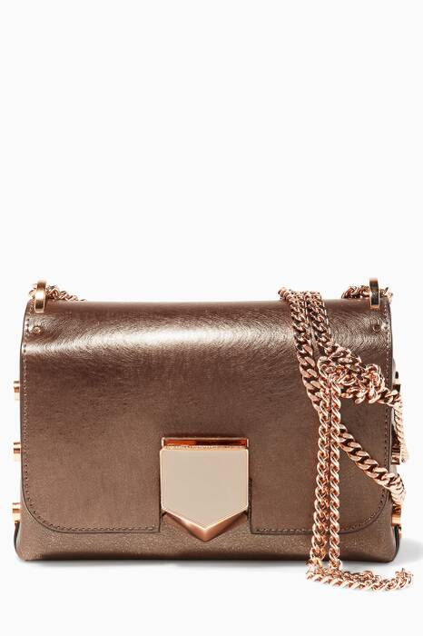 Dark-beige Lockett Petite Leather Shoulder Bag