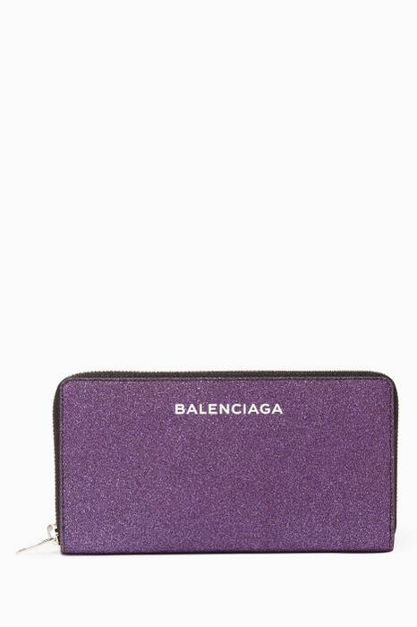 Metallic-Purple Essential Money Wallet