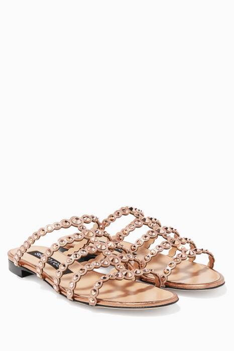 Rose-Gold Crystal Studded Kimberley Slides