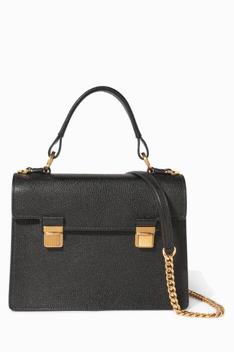 Black Madras Top-Handle Bag