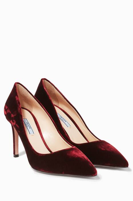 Bordeaux Velvet Pumps