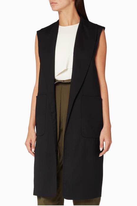 Onyx Single Breasted Shawl Collar Vest