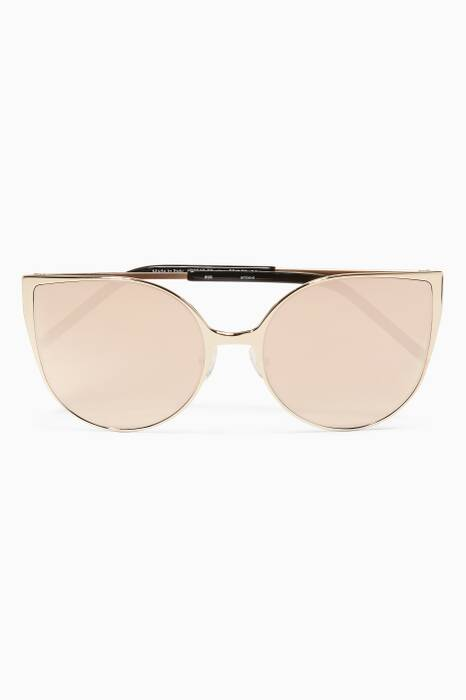Gold Ambient Cat-eye Sunglasses