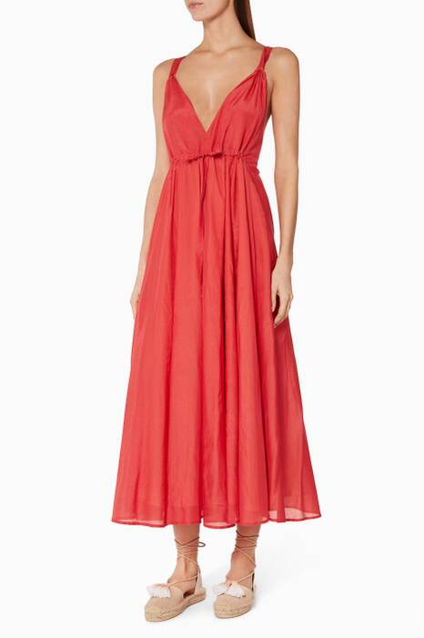 Fire-Red Jagger Dress