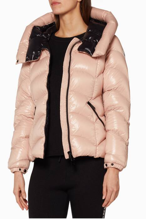 Black Akebia Quilted Puffer Jacket