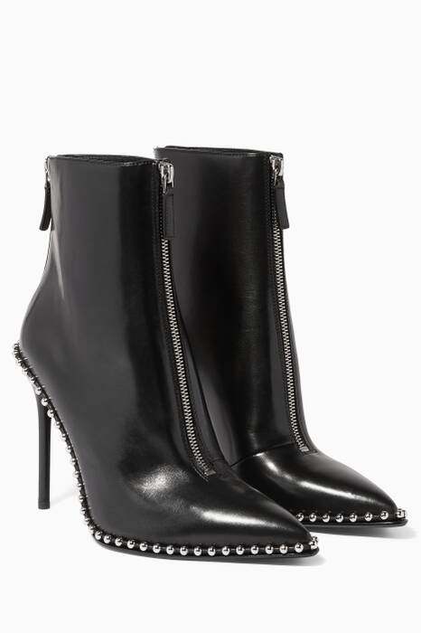 Black Eri Studded Ankle Boots