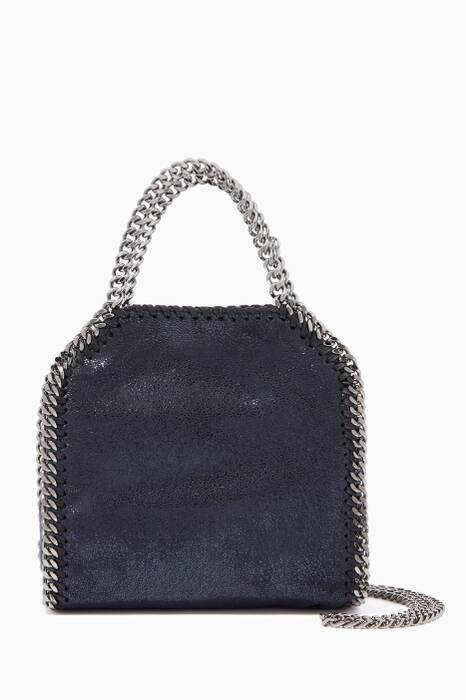 Navy Tiny Chamois Falabella Cross-Body Bag