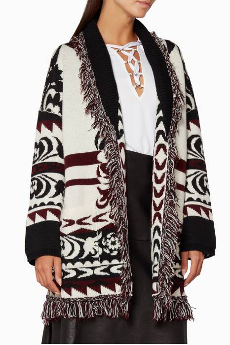 Multi-Coloured Etro Kaba Knit Cardigan