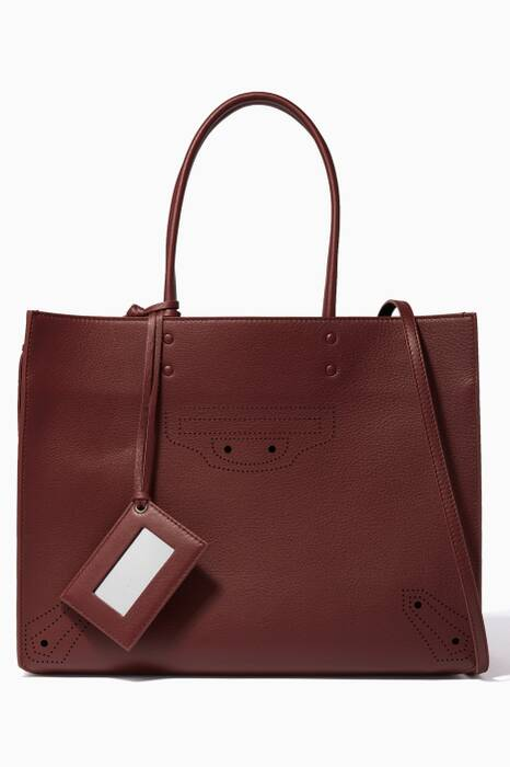 Burgundy Medium Papier ZA Blackout B4 Tote Bag