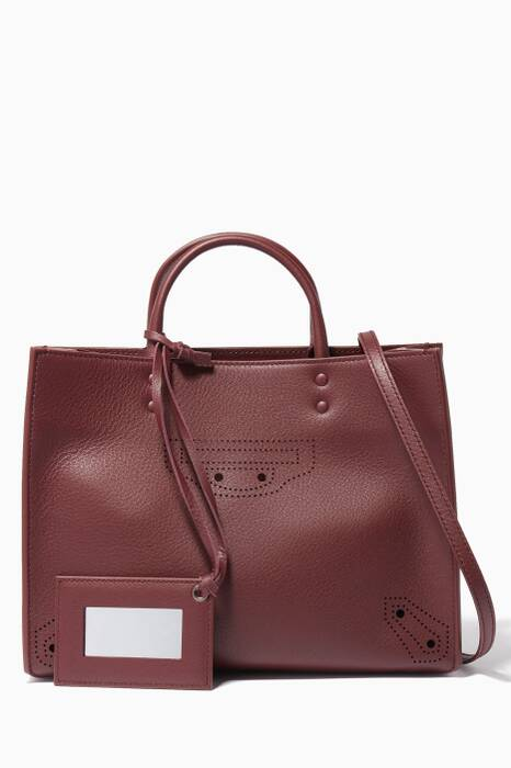 Burgundy Small Papier ZA Blackout A6 Shoulder Bag