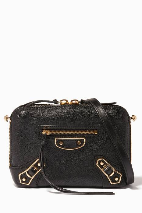 Black Mini Reporter City Cross-Body Bag