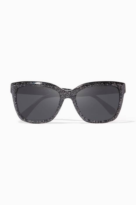 Black-Glitter New York Sunglasses