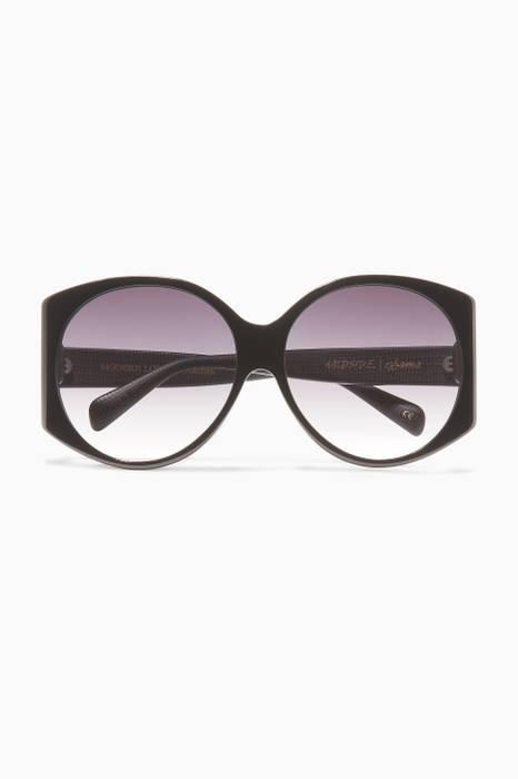 0b7636968ab9b Obsidian Modern Love Acetate Oversized D-Frame Sunglasses ...